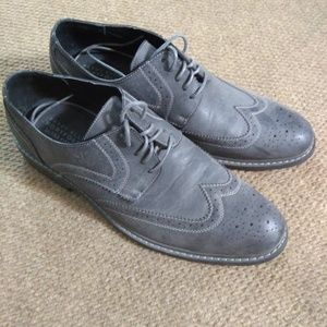 Grey Wingtip Dress Shoes, Perry Ellis Portfolio